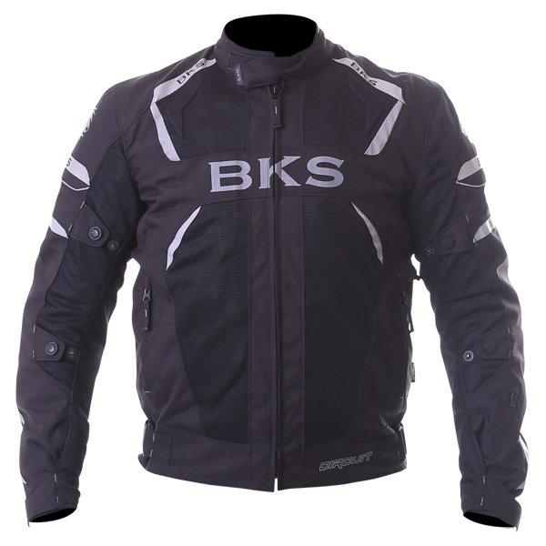 BKS Circuit Mesh Black Waterproof Textile Motorcycle Jacket Front