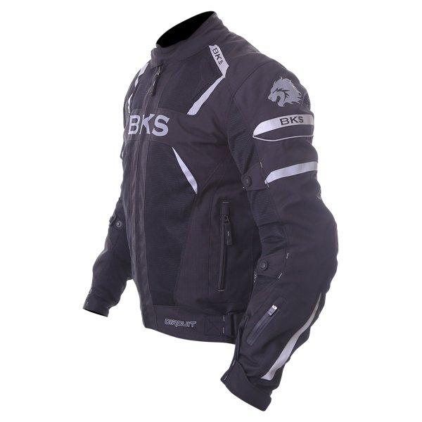 BKS Circuit Mesh Black Waterproof Textile Motorcycle Jacket Side