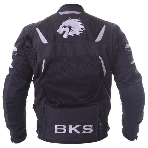 BKS Circuit Mesh Black Waterproof Textile Motorcycle Jacket Back