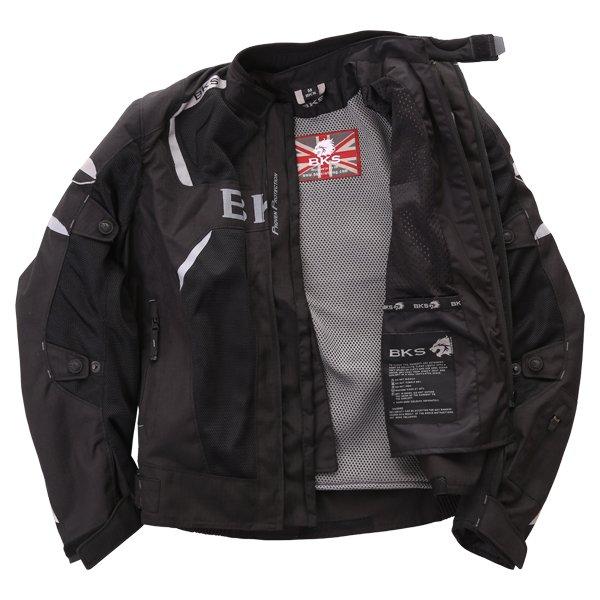 BKS Circuit Mesh Black Waterproof Textile Motorcycle Jacket Inside