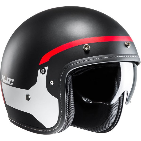 FG-70s Modik Helmet Red Black Open Face Motorcycle Helmets
