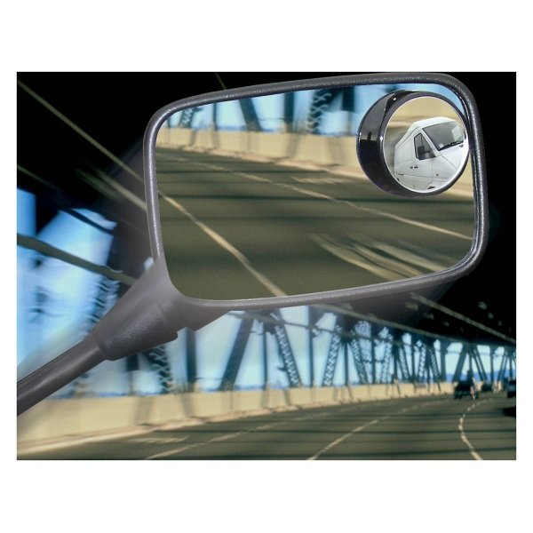 Bike It Pair Universal Motorcycle Blind Spot Mirrors in use