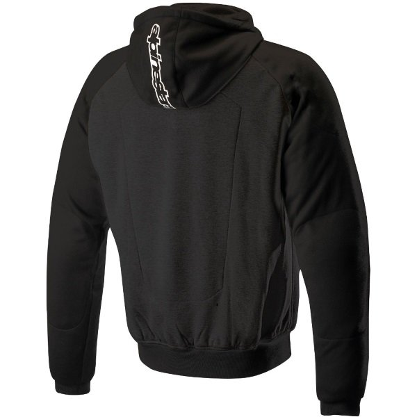 Alpinestars Chrome Sport Black Motorcycle Hoodie Black Back