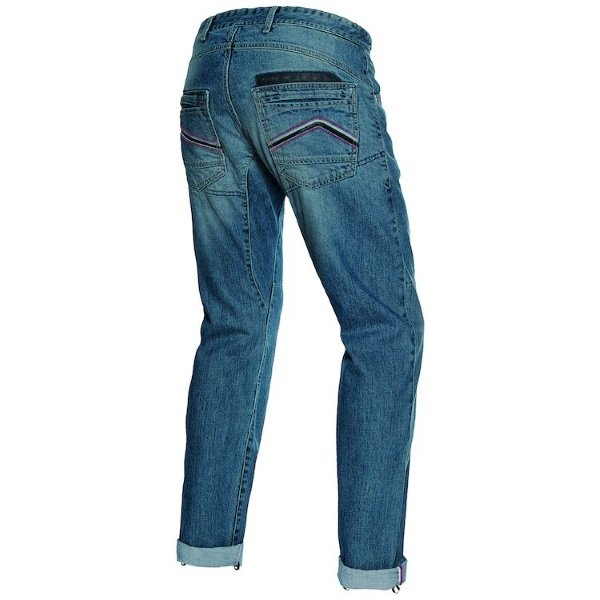 Dainese Bonneville Regular Medium Denim Kevlar Motorcycle Jeans Rear