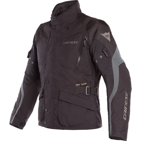 Dainese Tempest 2 D-Dry Black Waterproof Textile Motorcycle Jacket Front