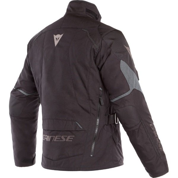 Dainese Tempest 2 D-Dry Black Waterproof Textile Motorcycle Jacket Back