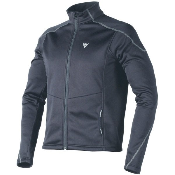 Dainese D1 Black No Wind Layer Jacket Front