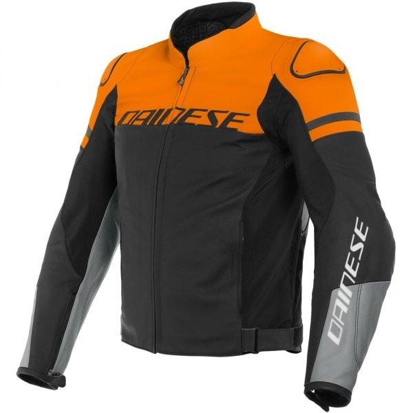 Dainese Agile Black Orange Grey Textile Motorcycle Jacket Front