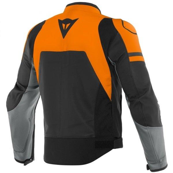 Dainese Agile Black Orange Grey Textile Motorcycle Jacket Back