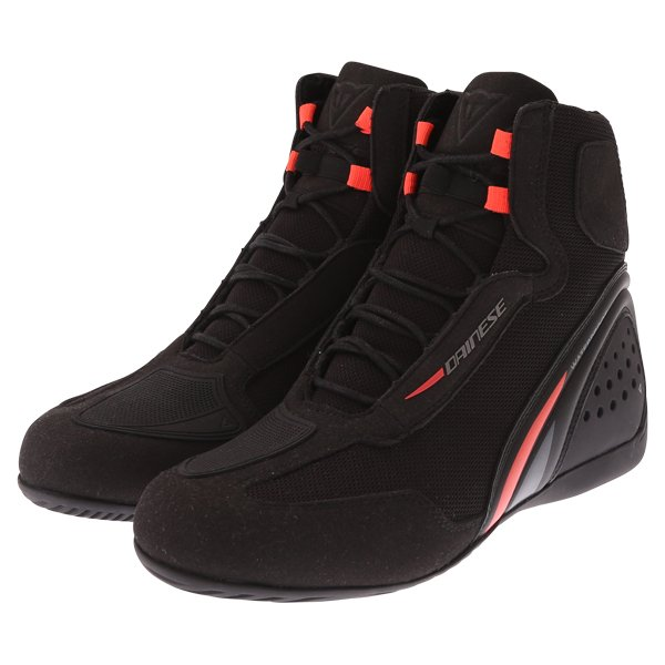 Motorshoe D1 DWP Boots Black Fluo Red Anthracite Dainese