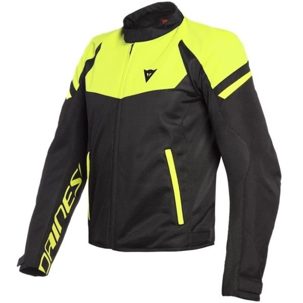 Dainese Bora Air Black Yellow Textile Motorcycle Jacket Front