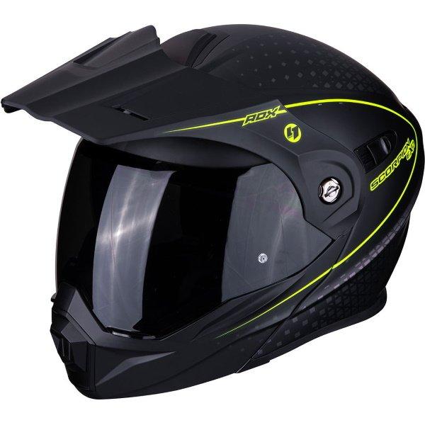 ADX-1 Horizon Helmet Black Yellow Scorpion Helmets