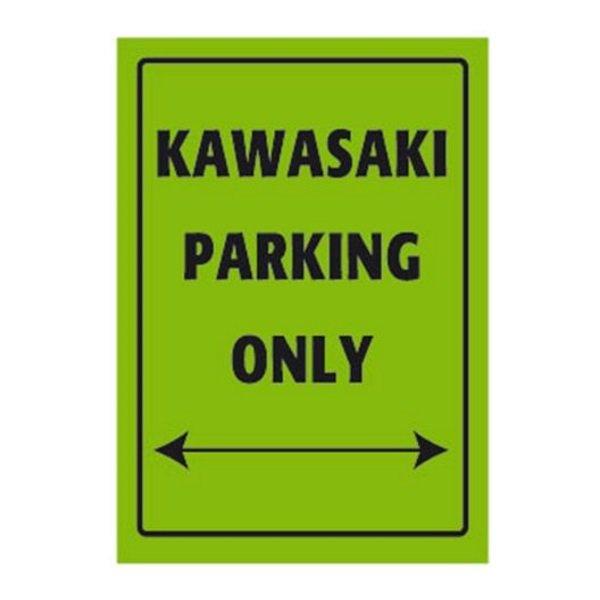 Bike It Kawasaki Only Parking Sign