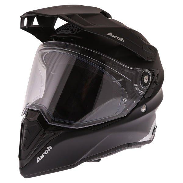 Airoh Commander Matt Black Adventure Motorcycle Helmet Front Left
