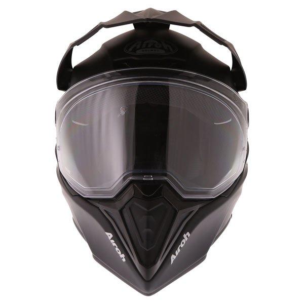 Airoh Commander Matt Black Adventure Motorcycle Helmet Front
