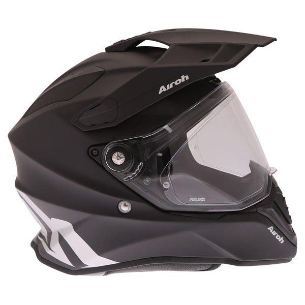 Airoh Commander Matt Black Adventure Motorcycle Helmet Right Side