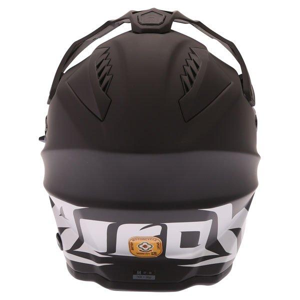 Airoh Commander Matt Black Adventure Motorcycle Helmet Back