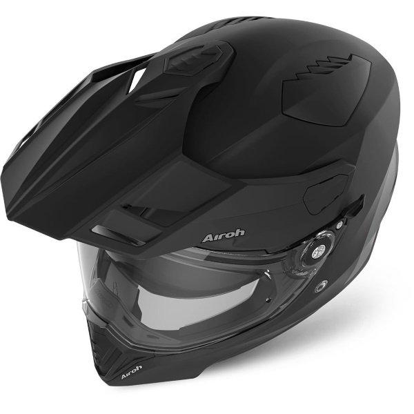 Airoh Commander Matt Black Adventure Motorcycle Helmet Top