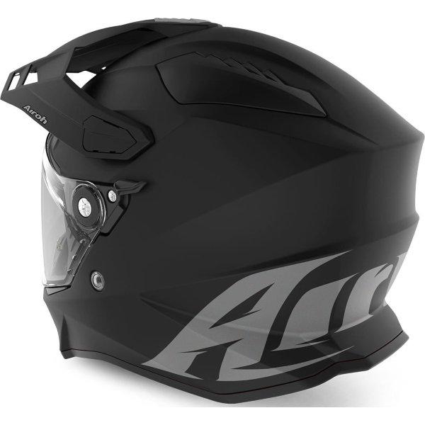 Airoh Commander Matt Black Adventure Motorcycle Helmet Back Left
