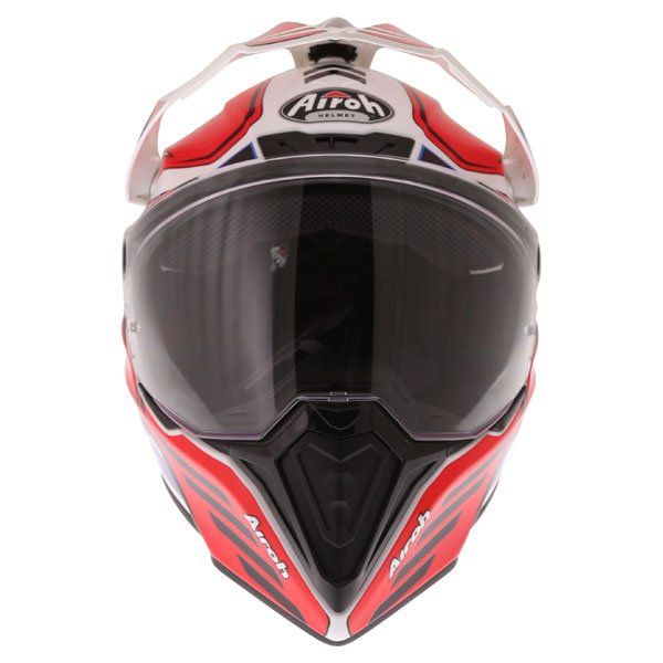 Airoh Commander Carbon Red Adventure Motorcycle Helmet Front