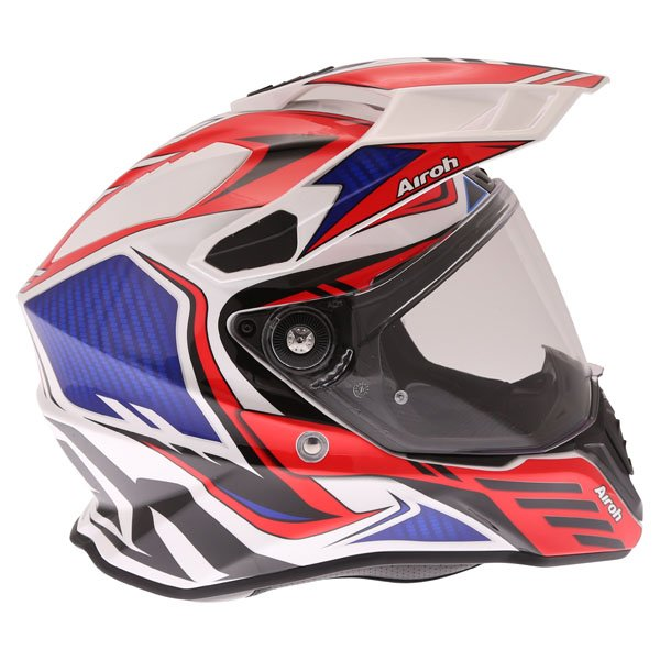 Airoh Commander Carbon Red Adventure Motorcycle Helmet Right Side