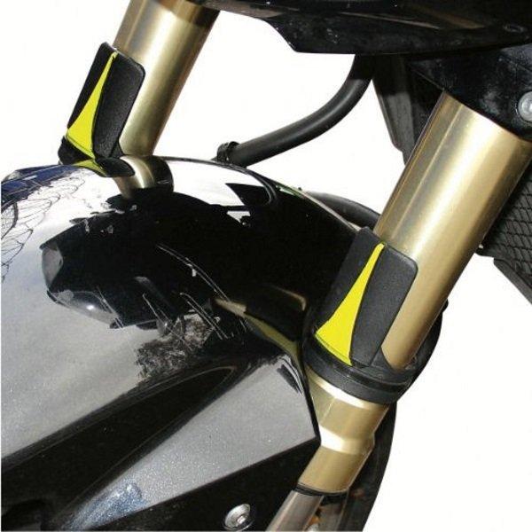 Bike It Universal Black Fork Protectors in use