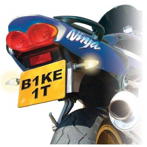 Bike It Black Long-Stem Universal Motorcycle Indicators