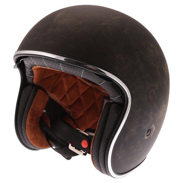 V537 Vintage Helmet Bronze Open Face Motorcycle Helmets