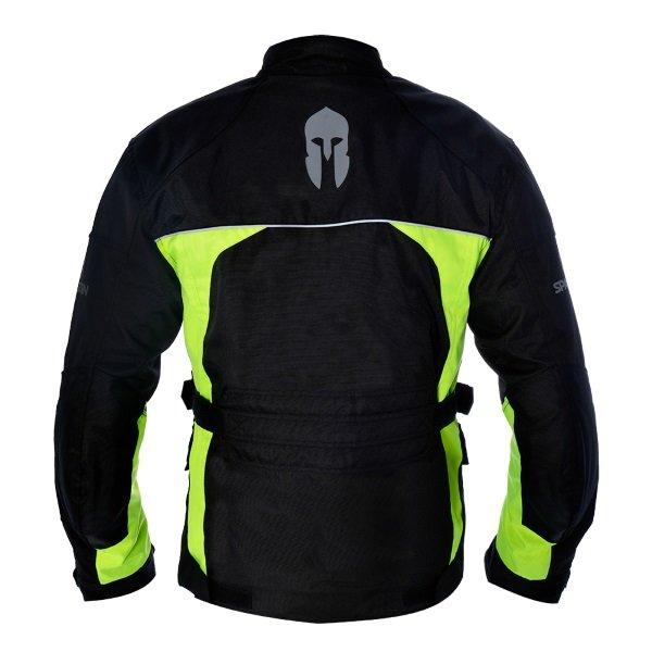 Spartan J17 Black Fluo Textile Motorcycle Jacket Back