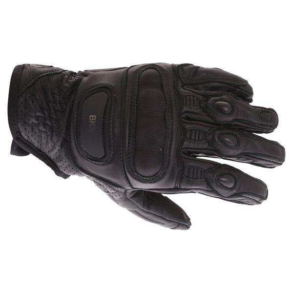 BKS A10-18 Dragon Black Motorcycle Gloves Back