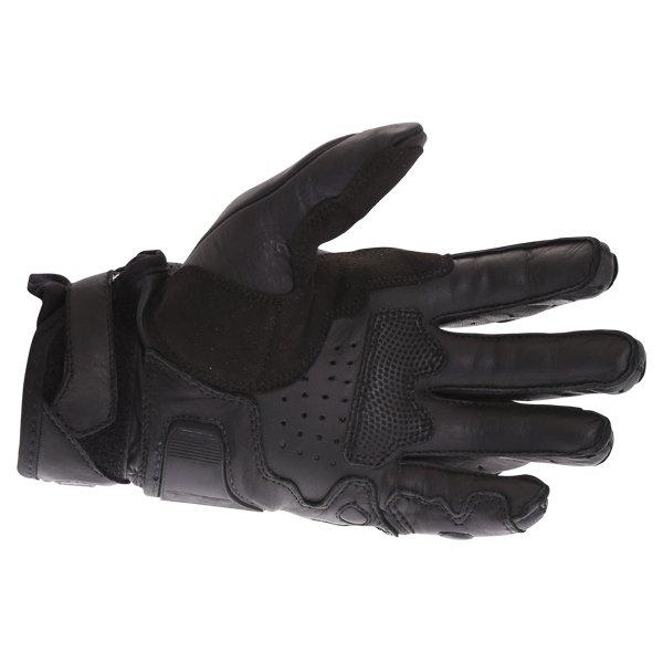 BKS A10-18 Dragon Black Motorcycle Gloves Palm