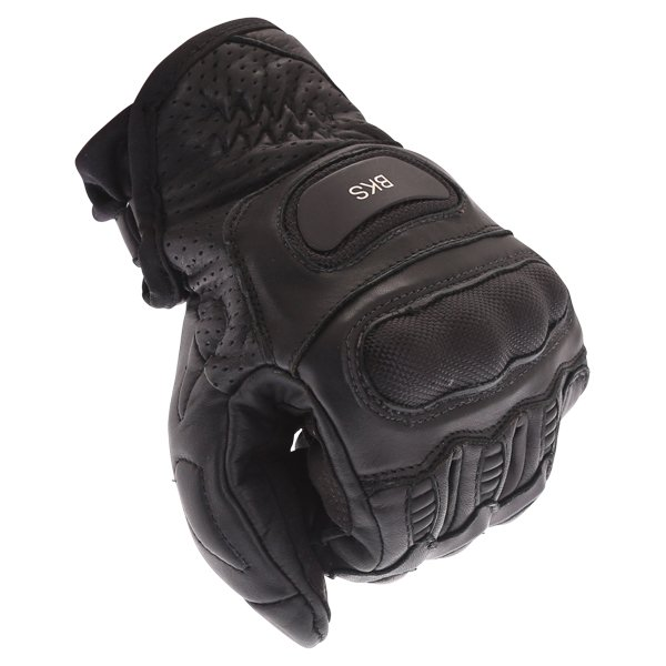 BKS A10-18 Dragon Black Motorcycle Gloves Knuckle
