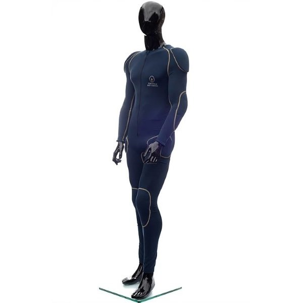 Forcefield L2 Blue Yellow Motorcycle Sport Suit Front