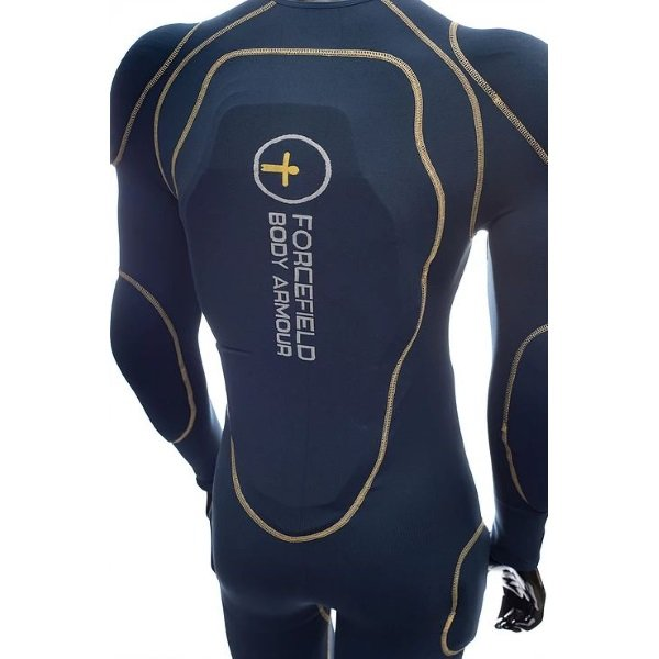Forcefield L2 Blue Yellow Motorcycle Sport Suit Back