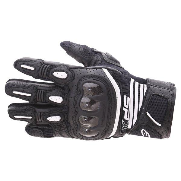 Alpinestars SP X Air Carbon V2 Black Motorcycle Gloves Back