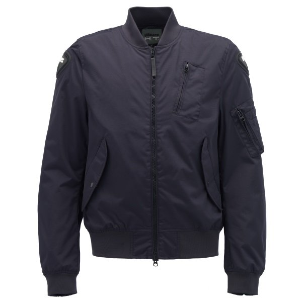 Blauer Maverik Blue Textile Motorcycle Jacket Front