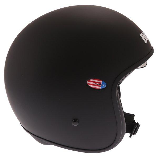 Blauer Pilot 1.1 Matt Black White Open Face Motorcycle Helmet Right Side