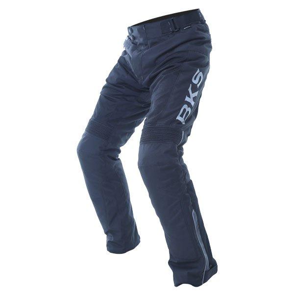 BKS Circuit Black Grey Textile Motorcycle Pants Riding position