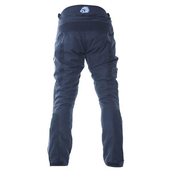 BKS Circuit Black Grey Textile Motorcycle Pants Rear
