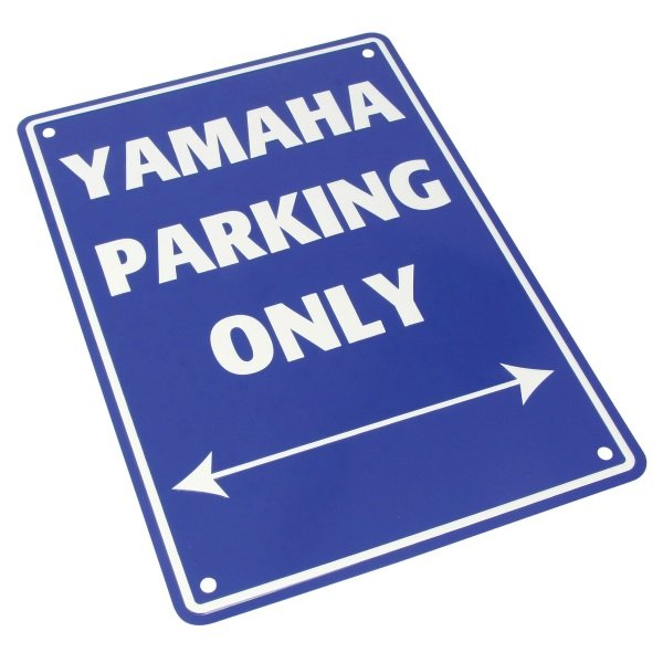 Bike It Yamaha Parking Only Sign