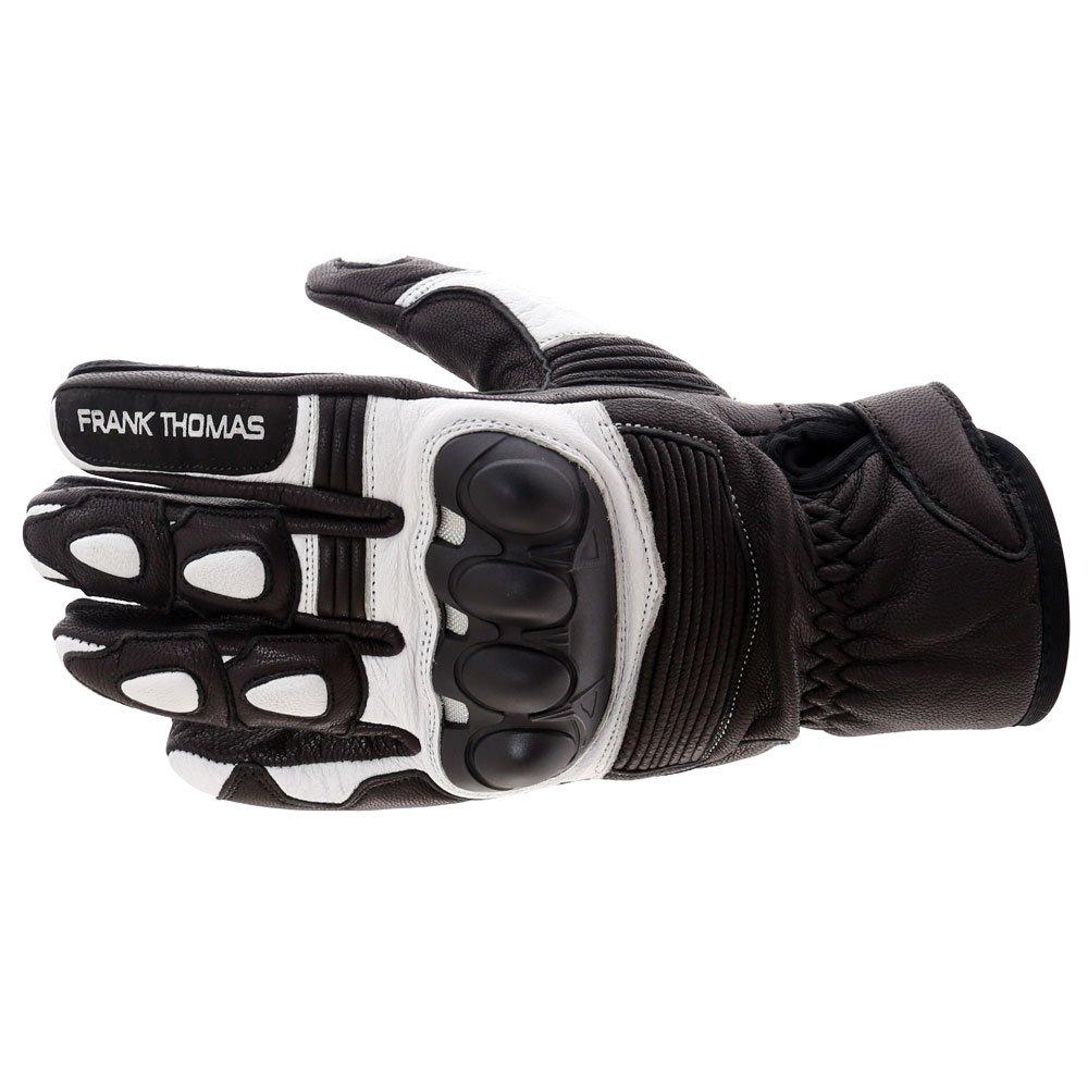A07-18 Street Gloves Black White Motorcycle Gloves