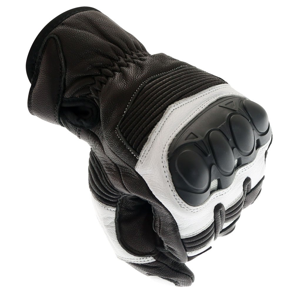 Frank Thomas A07-18 Street Black White Motorcycle Gloves Knuckle