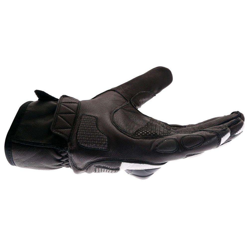 Frank Thomas A07-18 Street Black White Motorcycle Gloves Little finger side