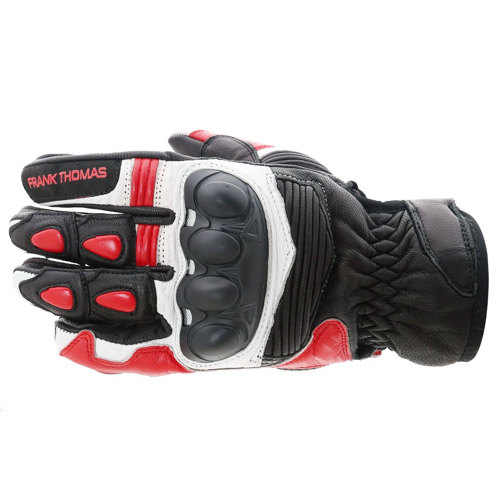 A07-18 Street Gloves Black White Red Motorcycle Gloves