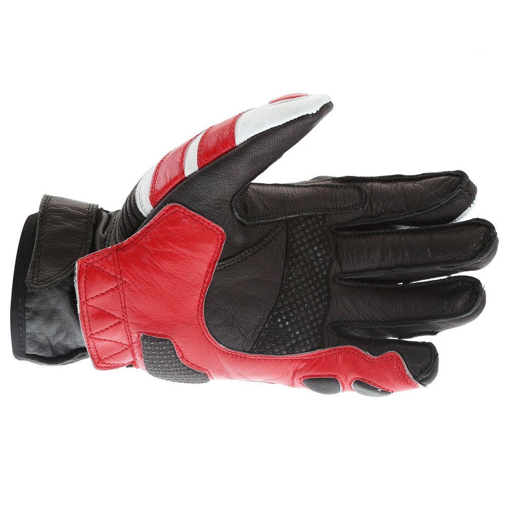 Frank Thomas A07-18 Street Black White Red Motorcycle Gloves Palm