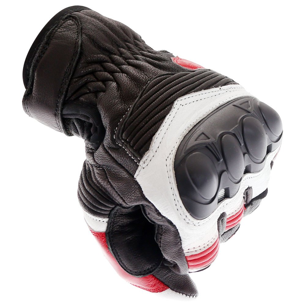 Frank Thomas A07-18 Street Black White Red Motorcycle Gloves Knuckle