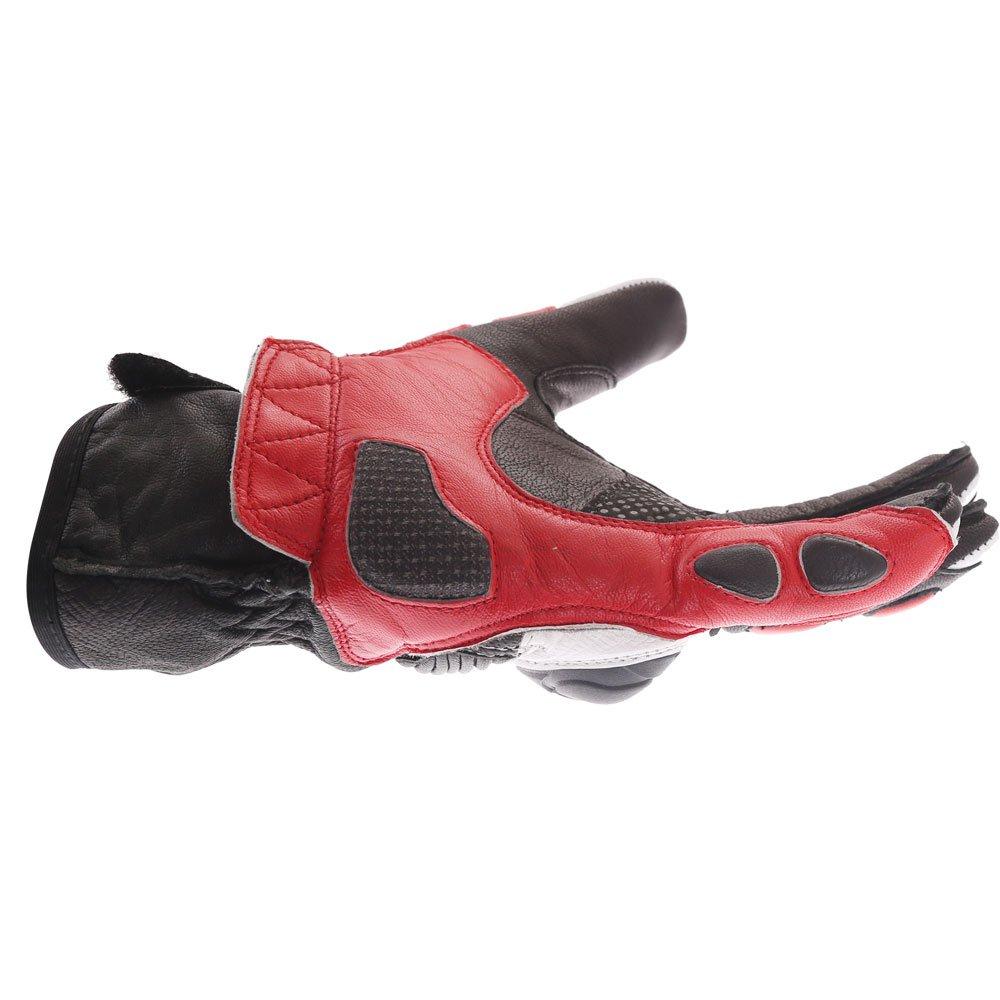 Frank Thomas A07-18 Street Black White Red Motorcycle Gloves Little finger side