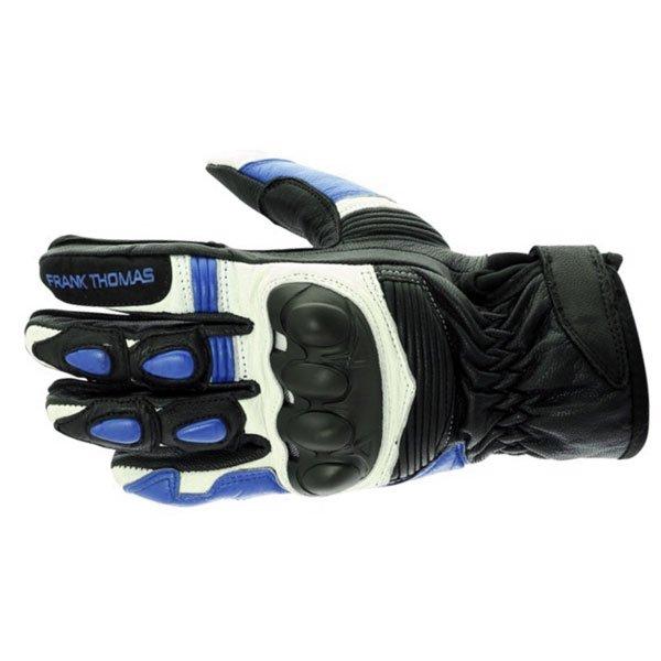 A07-18 Street Gloves Black White Blue Motorcycle Gloves
