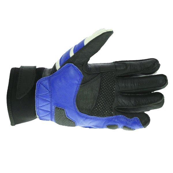 Frank Thomas A07-18 Street Black White Blue Motorcycle Gloves Palm