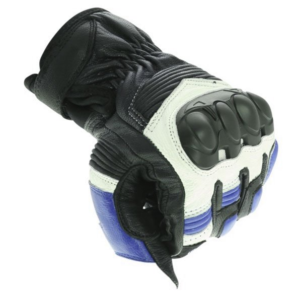 Frank Thomas A07-18 Street Black White Blue Motorcycle Gloves Knuckle